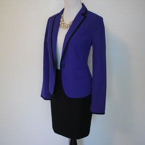 EXPRESS Size 0 & XSP Black Blue Skirt Suit